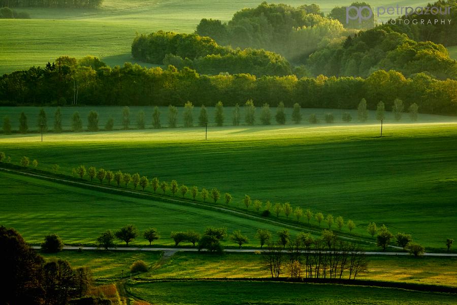 Krajina v Českém ráji za svítání