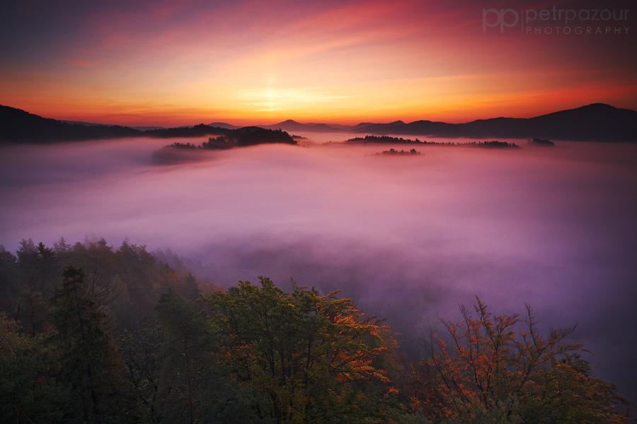 Svítání v Českém Švýcarsku