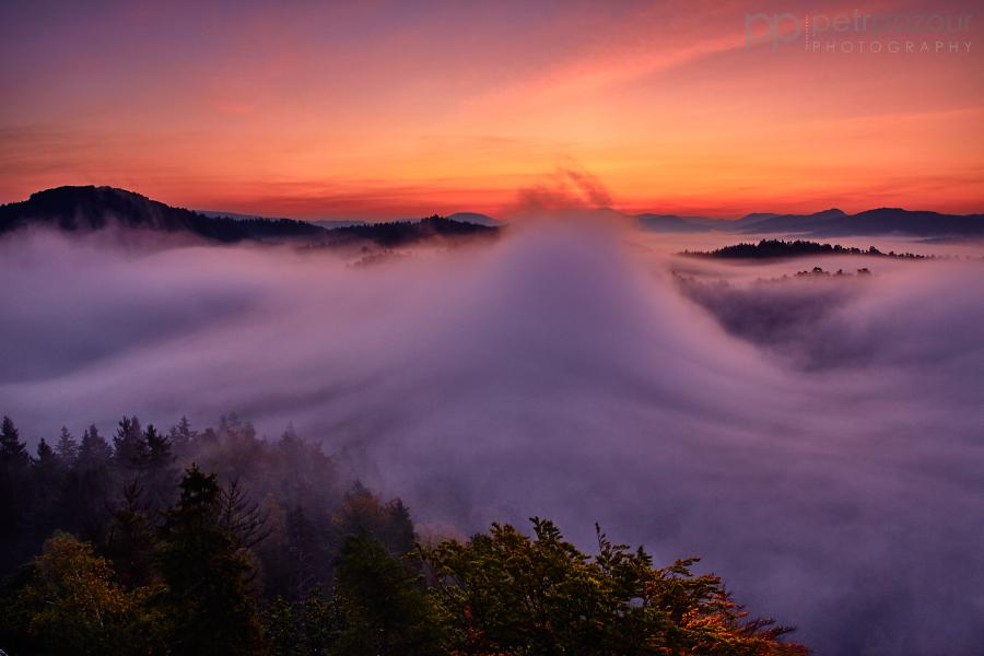 Mlhavé svítání v Českém Švýcarsku