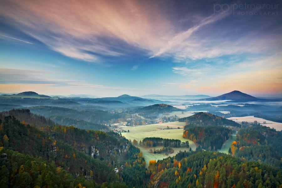 Ráno v Českém Švýcarsku