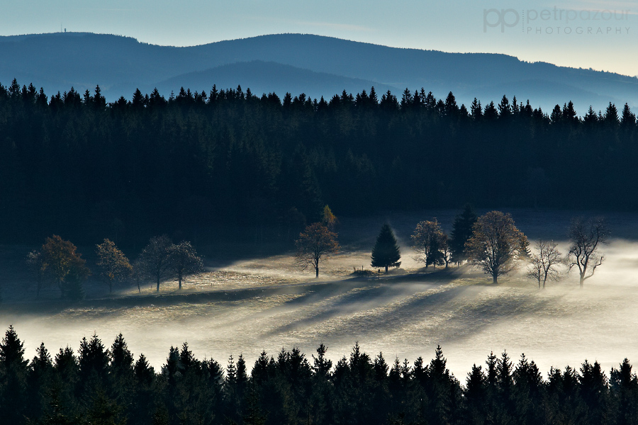 Podzimní ráno na Zhůří
