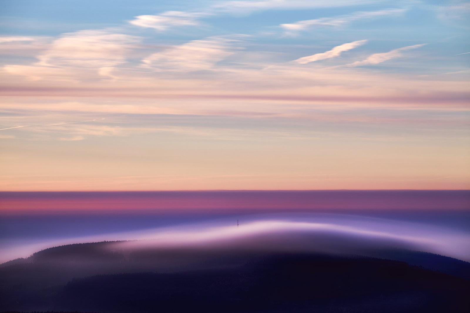 Černá hora za svítání