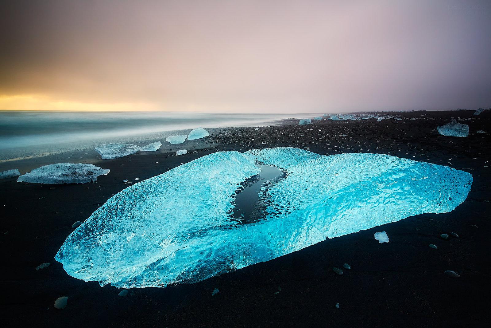 Islandský ledový diamant